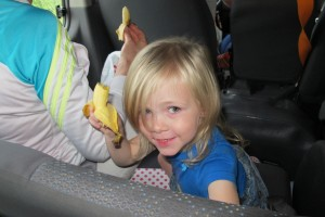 Eliza with her Banana