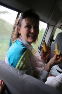 Mama Bear with Bananas in Polochic
